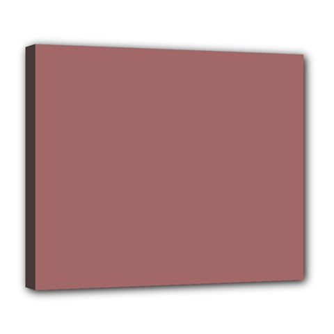 Blush Gold Coppery Pink Solid Color Deluxe Canvas 24  X 20   by PodArtist