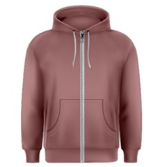 Blush Gold Coppery Pink Solid Color Men s Zipper Hoodie by PodArtist