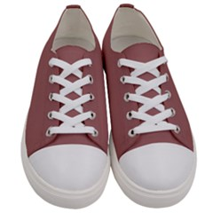 Blush Gold Coppery Pink Solid Color Men s Low Top Canvas Sneakers