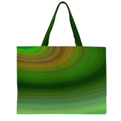 Green Background Elliptical Zipper Large Tote Bag by Nexatart