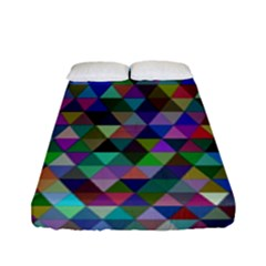 Triangle Tile Mosaic Pattern Fitted Sheet (full/ Double Size)