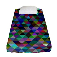 Triangle Tile Mosaic Pattern Fitted Sheet (single Size) by Nexatart