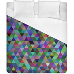 Triangle Tile Mosaic Pattern Duvet Cover (california King Size) by Nexatart