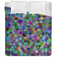 Triangle Tile Mosaic Pattern Duvet Cover Double Side (california King Size) by Nexatart