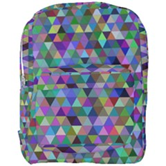 Triangle Tile Mosaic Pattern Full Print Backpack by Nexatart