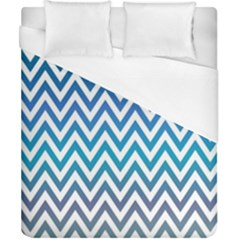 Blue Zig Zag Chevron Classic Pattern Duvet Cover (california King Size)