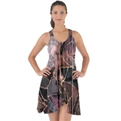 Patchwork Show Some Back Chiffon Dress