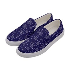 Pattern Circle Multi Color Women s Canvas Slip Ons by Nexatart
