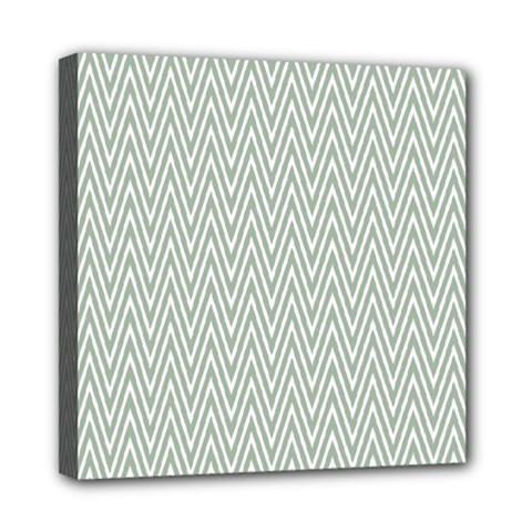 Vintage Pattern Chevron Mini Canvas 8  X 8