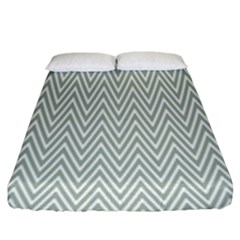 Vintage Pattern Chevron Fitted Sheet (king Size)