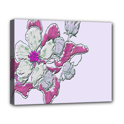 Bouquet Flowers Plant Purple Deluxe Canvas 20  X 16   by Nexatart