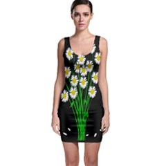 Bouquet Geese Flower Plant Blossom Bodycon Dress