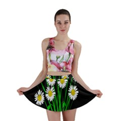 Bouquet Geese Flower Plant Blossom Mini Skirt