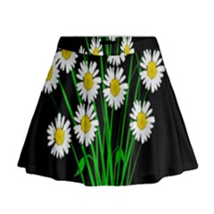 Bouquet Geese Flower Plant Blossom Mini Flare Skirt
