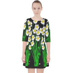 Bouquet Geese Flower Plant Blossom Pocket Dress