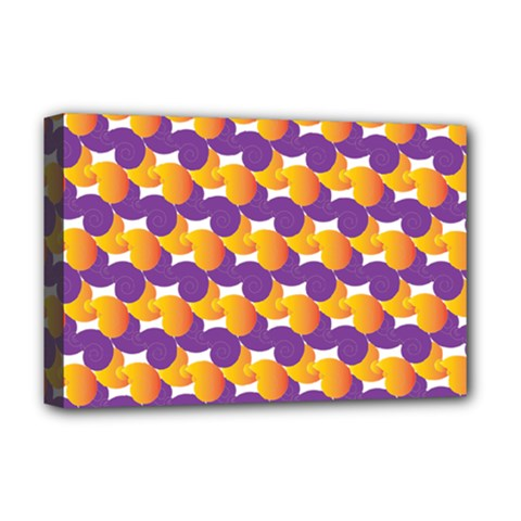 Pattern Background Purple Yellow Deluxe Canvas 18  X 12   by Nexatart