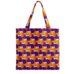 Pattern Background Purple Yellow Zipper Grocery Tote Bag by Nexatart