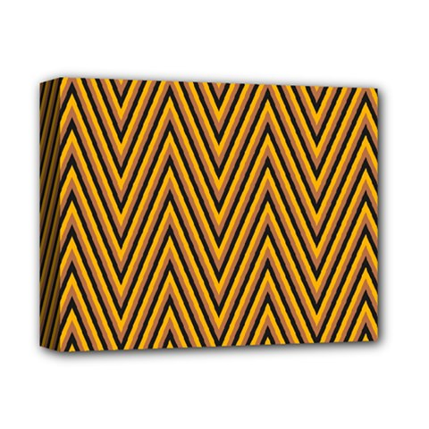 Chevron Brown Retro Vintage Deluxe Canvas 14  X 11  by Nexatart