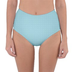 Blue Pattern Background Texture Reversible High Waist Bikini Bottoms