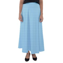 Blue Pattern Background Texture Flared Maxi Skirt