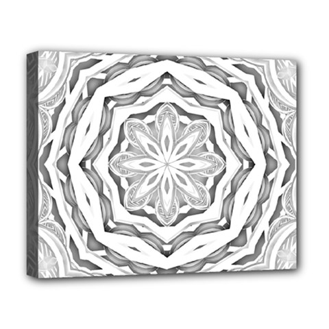 Mandala Pattern Floral Deluxe Canvas 20  X 16   by Nexatart