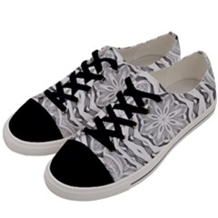 Mandala Pattern Floral Men s Low Top Canvas Sneakers by Nexatart