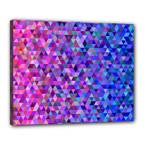 Triangle Tile Mosaic Pattern Canvas 20  X 16