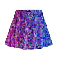 Triangle Tile Mosaic Pattern Mini Flare Skirt by Nexatart