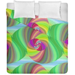 Seamless Pattern Twirl Spiral Duvet Cover Double Side (california King Size) by Nexatart