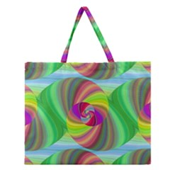 Seamless Pattern Twirl Spiral Zipper Large Tote Bag