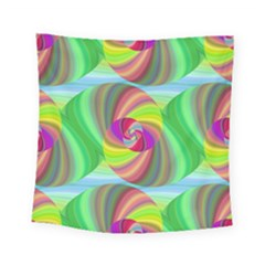 Seamless Pattern Twirl Spiral Square Tapestry (small) by Nexatart