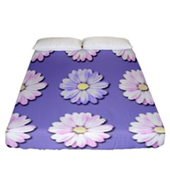 Daisy Flowers Wild Flowers Bloom Fitted Sheet (california King Size)