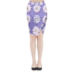 Daisy Flowers Wild Flowers Bloom Midi Wrap Pencil Skirt