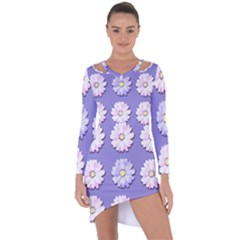 Daisy Flowers Wild Flowers Bloom Asymmetric Cut Out Shift Dress