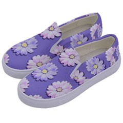 Daisy Flowers Wild Flowers Bloom Kids  Canvas Slip Ons by Nexatart