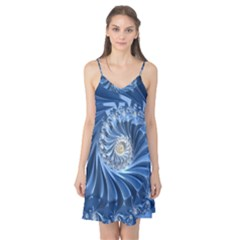 Blue Fractal Abstract Spiral Camis Nightgown