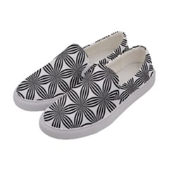 Seamless Pattern Repeat Line Women s Canvas Slip Ons by Nexatart