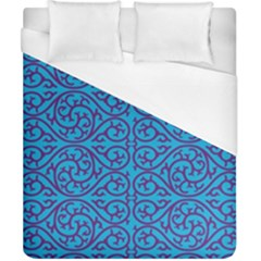 Monogram Blue Purple Background Duvet Cover (california King Size) by Nexatart