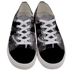 Awesome Wild Black Horses Running In The Night Women s Low Top Canvas Sneakers