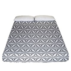 Seamless Pattern Monochrome Repeat Fitted Sheet (queen Size) by Nexatart