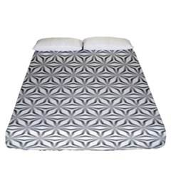 Seamless Pattern Monochrome Repeat Fitted Sheet (king Size)