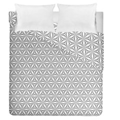 Seamless Pattern Monochrome Repeat Duvet Cover Double Side (queen Size) by Nexatart