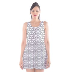 Seamless Pattern Monochrome Repeat Scoop Neck Skater Dress by Nexatart