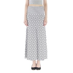 Seamless Pattern Monochrome Repeat Full Length Maxi Skirt