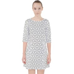 Seamless Pattern Monochrome Repeat Pocket Dress by Nexatart