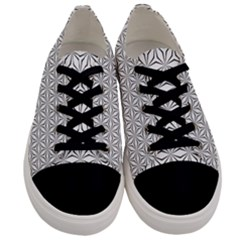 Seamless Pattern Monochrome Repeat Men s Low Top Canvas Sneakers