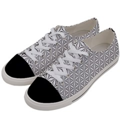 Seamless Pattern Monochrome Repeat Women s Low Top Canvas Sneakers by Nexatart