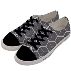 Cube Pattern Cube Seamless Repeat Men s Low Top Canvas Sneakers by Nexatart