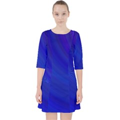 Blue Background Abstract Blue Pocket Dress