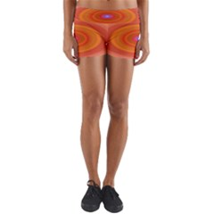 Ellipse Background Orange Oval Yoga Shorts